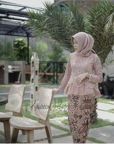 Kebaya Lace, Kebaya Hijab, Kebaya Brokat, Batik Kebaya, Kebaya Dress, Batik Dress, Hijab Dress, Model Kebaya Modern, Kebaya Modern Dress