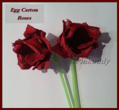 Step by Step Egg Carton Roses