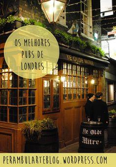Uma lista dos melhores pubs em Londres.