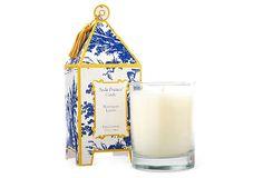 SEDA FRANCE | S/2 Pagoda Candles, Napoleon Lemon | 10 oz, 60+ hr burn time each | 70.00 retail