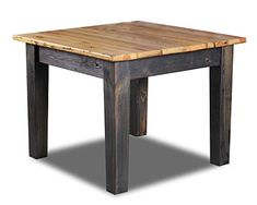 Vintage Flooring & Furniture SQ404-42 Bar Height Square Dining Table with Natural Top & Ebony Base