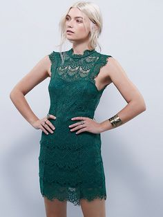 NWT Free the People Daydreams green bodycon lace backless mini cocktail dress XS Free People Lace Dress, Mini Slip Dress, Lace Slip, Bodycon Fashion, Boho Dress, Green Dress, Bodycon Dress, Daydream, Cap Sleeves