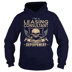 LEASING CONSULTANT What's Your Superpower T-Shirts, Hoodies. SHOPPING NOW ==► https://www.sunfrog.com/LifeStyle/LEASING-CONSULTANT-super-Navy-Blue-Hoodie.html?id=41382