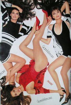 Linda Evangelista, Paulina Porizkova & Christy Turlington by Richard Avedon for Versace 1988