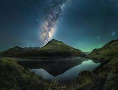 Where Earthporn meets Spaceporn. The Milky Way core is making its way back for winter. Lucky enough to live literally five minutes away from this spot. Lake Kirkpatrick Queenstown New Zealand. [OC][4832  3715] @south_of_home #reddit