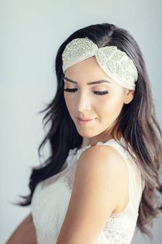 Crystal Hair Bandeau Bridal Headpiece by Marisol Aparicio on Etsy