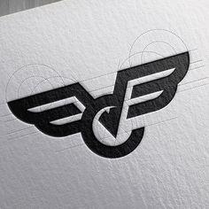 Incredible graphic designs by Goran Jugovic Logo Inspiration, Buho Logo, Logo Branding, Branding Design, Logistics Logo, Logo Sketches, Wings Logo, Logo Concept, Laser Concept