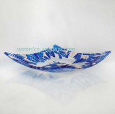 Fused glass bowl FROSTY MORNING | Fused glass - fusing
