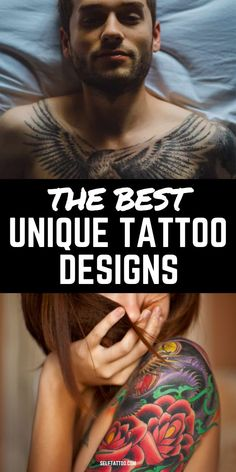 The Best Unique Tattoo Designs | Tattoo Ideas - Are you struggling to decide on a tattoo design? With so many choices out there, it can be overwhelming! Click here for 35 unique and uncommon tattoos that can help narrow down your search. Self Tattoo | Unique Tattoos | Tattoo Designs | Tattoo Ideas for Female | Tattoo Ideas for Men | Tattoo Ideas Small | Unique Minimalist Tattoos | Tattoos for Women | Tattoos for Guys #tattoos #bodytattoos #design #bodyart Girls With Sleeve Tattoos, Shoulder Tattoos For Women, Best Sleeve Tattoos, Arm Tattoos For Guys, Couple Tattoos, Meaningful Tattoos For Men, Unique Tattoos For Women, Unique Tattoo Designs, Tattoo Sleeve Designs
