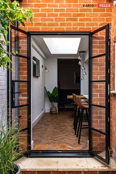 Home Room Design, Home Interior Design, Exterior Design, House Design, Kitchen Extension Terraced House, House Extension Design, Victorian Terrace House, Open Plan Kitchen Dining, French Doors Patio