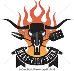 Barbecue, logo - csp7615132