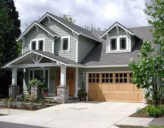 Craftsman Ranch Home Exterior craftsman style ranch home exteriors | craftsman ranch,attached