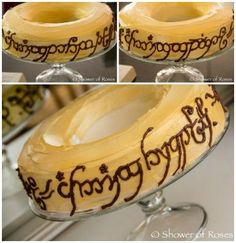 Throw a fun LOTR Hobbit party with these awesome Lord of the Rings Themed Food ideas! Over 20 Lord of The Rings Recipes to help you celebrate. Hobbit Party, Ring Cake, O Hobbit, Hobbit Cake, Party Rings, Food Themes, Food Ideas, One Ring, Lord Of The Rings