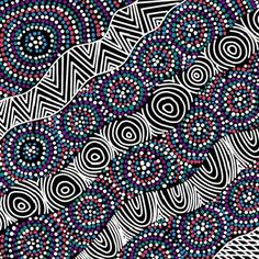 Check out the deal on Australian Aboriginal fabric, Salt Lake Black by Heather Kennedy at artisticartifacts.com