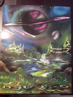 Bought this last night in downtown dallas, cool spray paint artist  cosmo universal art