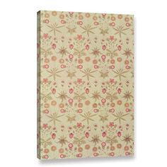 Bungalow Rose Daisy Wallpaper Design, 1862 Graphic Art on Wrapped Canvas Size: