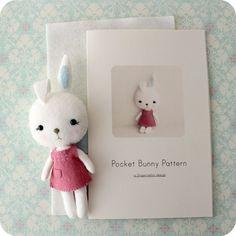 Pocket Bunny Pattern Kit by Gingermelon on Etsy, $12.50