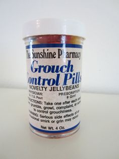 Grouch pills- novelty Birthday Gag Gifts, Birthday Gifts For Boyfriend, 50th Birthday Party, Gifts For Dad, Birthday Ideas, Silly Gifts, Joke Gifts, Funny Gifts, Pill Bottle Crafts
