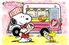 Snoopy and Woodstock at the Food Truck