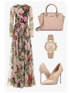 A fashion look from June 2016 by enaleille featuring Dolce&Gabbana, Massimo Matteo and Michael Kors Modest Outfits, Classy Outfits, Stylish Outfits, Summer Outfits, Mode Chic, Mode Style, Elegant Dresses, Beautiful Dresses, Look Fashion