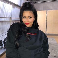 Kylie Jenner wearing BOSS Lip Kit