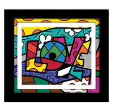 I love Romero Britto art