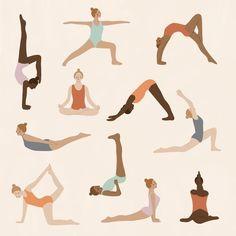 Yoga Illustration, People Illustration, Fantasy Illustration, Digital Illustration, Portrait Illustration, Yoga Drawing, Yoga Art, Portrait Art, Illustrations Posters