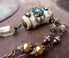 Wine and Silk upcycled wine cork necklace by freerangeart, $37.50