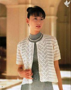 White Jacket free crochet graph pattern