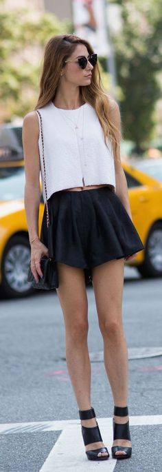 Summer Casual Black & White NYFW