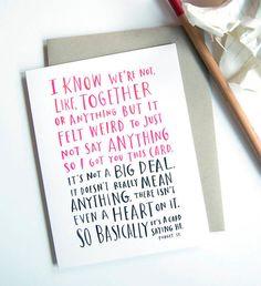 Erfrischend ehrliche #Valentinstagskarten #valentine #card