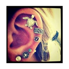 helix piercing | Tumblr | Tattoos&Piercings | Pinterest ❤ liked on Polyvore featuring earrings and piercings