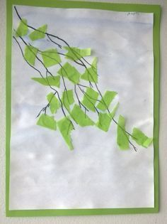 Use tissue to oclude laundry window. And/or paint as the background. Fall Arts And Crafts, Summer Crafts, Fun Crafts, Diy And Crafts, Paper Crafts, Spring Art, Summer Art, Diy For Kids, Crafts For Kids
