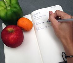 Writing down what we eat can nearly double weight loss. So keep a food journal to help lose (and maintain) weight!