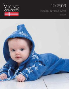 FREE...Baby Ull Hooded Jumpsuit & Hat – 1006-03   Knitting Fever Yarns & Euro Yarns
