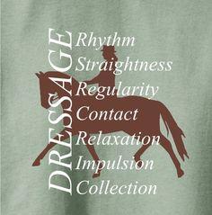 Amazon.com: Dressage Training Horse Lovers Green T-Shirt - Charlie Horse Apparel #chapparel