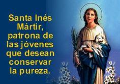 21 Enero. Santa Inés. patrona de las jovencitas.
