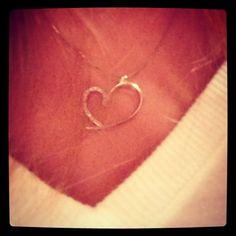 Diamond heart on white gold