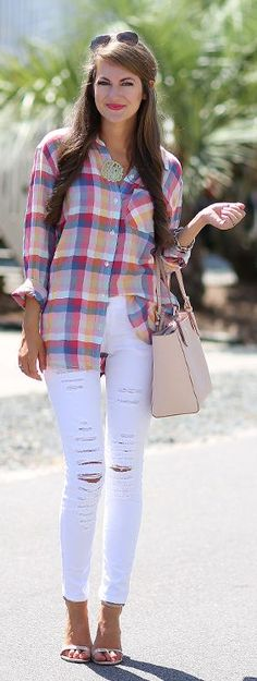 Perfect Plaid Button-down by Southern Curls and pearls