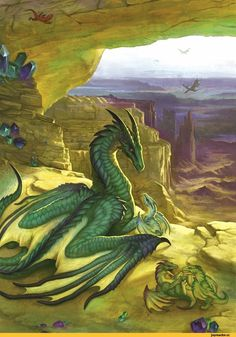 Dragon with babies