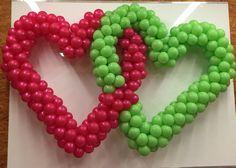 Hearts in balloon