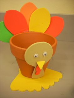 kids thanksgiving crafts | Simply trace the pattern pieces onto the foam sheets…