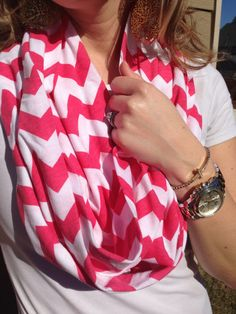 Chevron Infinity Scarves by BurlapBelle on Etsy, $15.00
