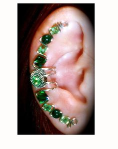 Victoria Ear Cuff Wrap Multiple Piercings Illusion Ear Clip Handmade by Earlums #Earlums