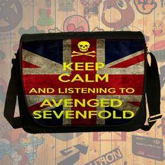 NEW HOT!!! Avenged Sevenfold Messenger Bag, Laptop Bag, School Bag, Sling Bag for Gifts & Fans #04