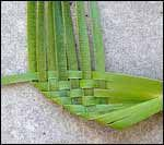 weaving a flax flower step 4