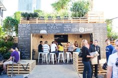 temporary design: Urban Coffee Farm and Brew Bar by Hassell