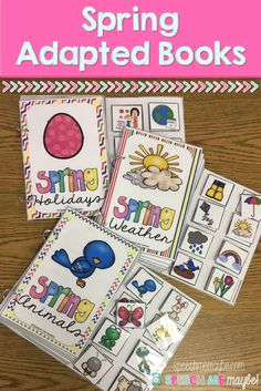 This resource includes three interactive adapted books to use with your Pre-school and Kindergarten students. Adapted books are a great way to target so many language skills such as, themed vocabulary, picture matching, attributes, descriptors, and more! My students LOVE interactive books and I know yours will too!!