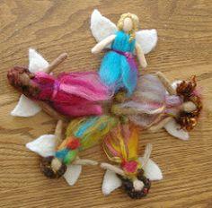 Fairy Ring (BeneathTheRowanTree) Tags: wool felted toys miniature dolls natural felting handmade felt fairy needle locks fairies fiber faerie fae needlefelted
