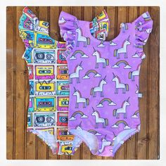 Baby Toddler Girls Retro Mixed Tapes or Purple Unicorns Gymnastic Ballet Leotard by juliafayedavison on Etsy https://www.etsy.com/listing/469009560/baby-toddler-girls-retro-mixed-tapes-or